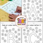 Letter A Activities for Preschool Printables Alphabet Worksheets Of Free Alphabet Dab A Z Coronavirus Packet Distance Learning