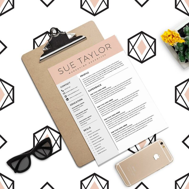 Marketing Executive Resume Modern Resume Template CV Template Word Resume Professional Resume Creative Resume Instant Download Docx