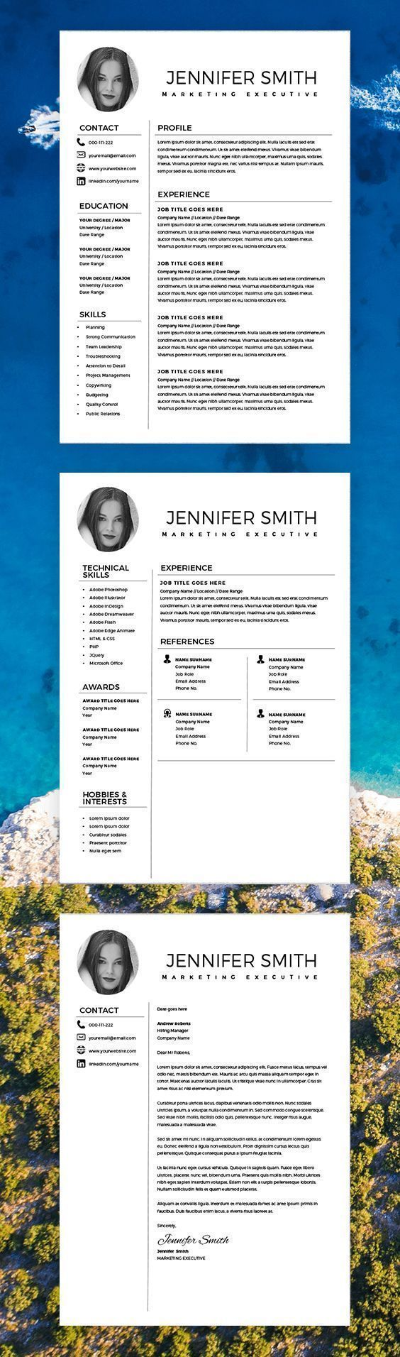 Resume with Marketing Resume Template Resume Template Word Creative with Cover Letter Marketing Executive Resume