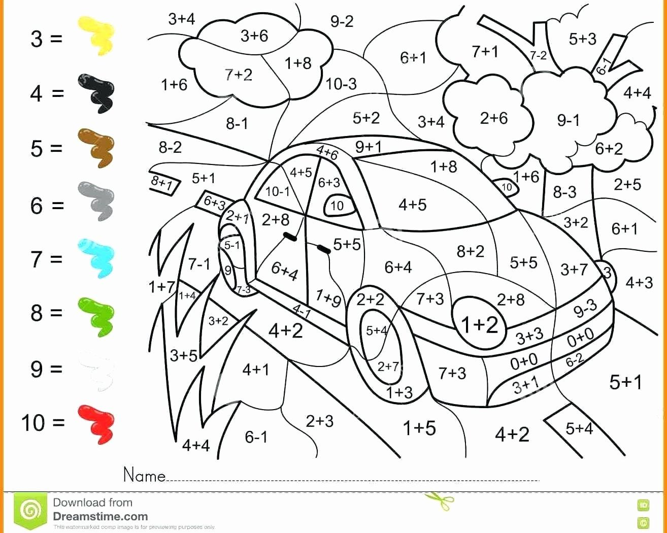 hight resolution of 8 Math Coloring Worksheets - Free Templates
