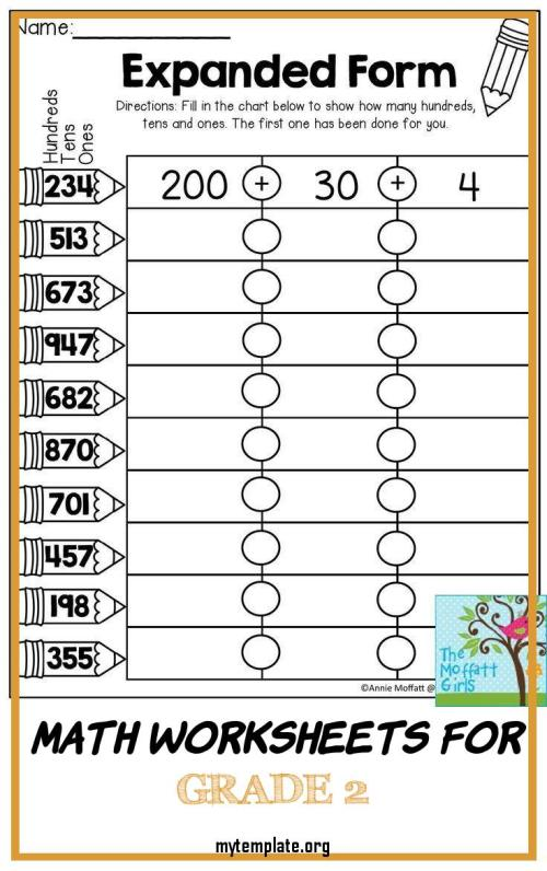 small resolution of Math Worksheets Grade 2   www.robertdee.org
