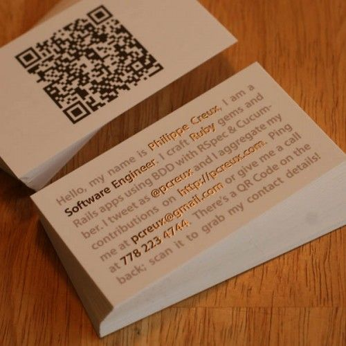 Little mini resume style business card tells people exactly what they need to know in a classy interesting way from Hannah Marshall