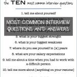 Most Common Interview Questions and Answers Of How to Answer the Most Mon Interview Questions