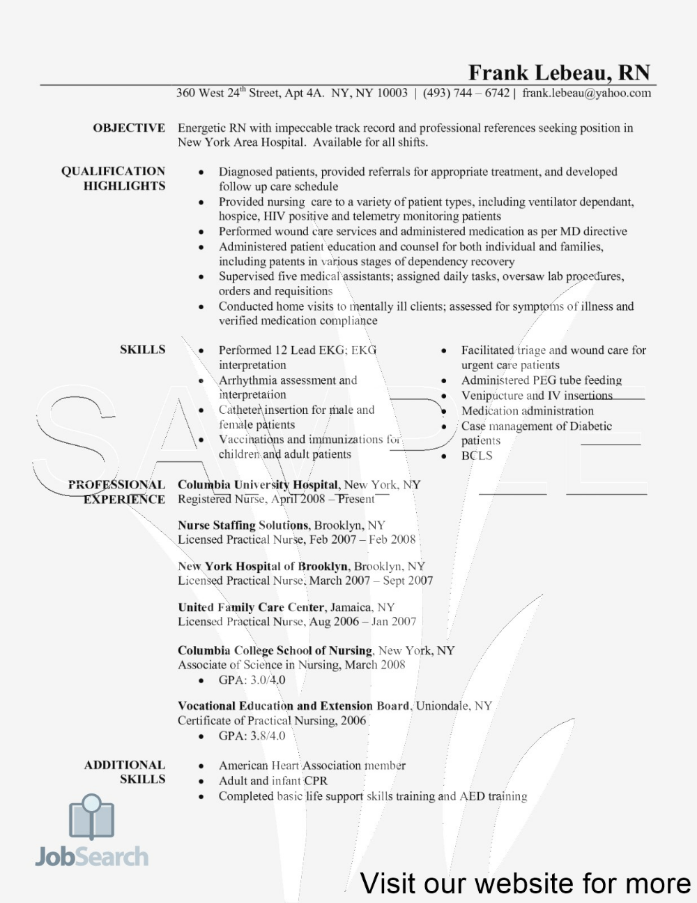 Cv writing service for nurse practitioners