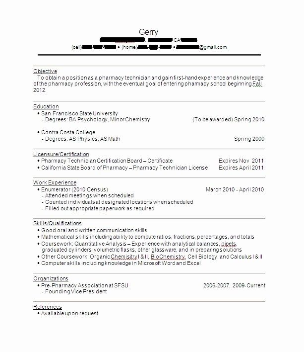 Objective For Pharmacy Tech Resume Of Best Resume Objective Examples Pharmacy Technician Free Templates