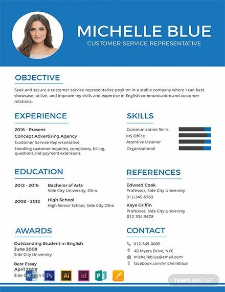 FREE Resume CV Format Template Word DOC PSD InDesign Apple MAC Pages Illustrator