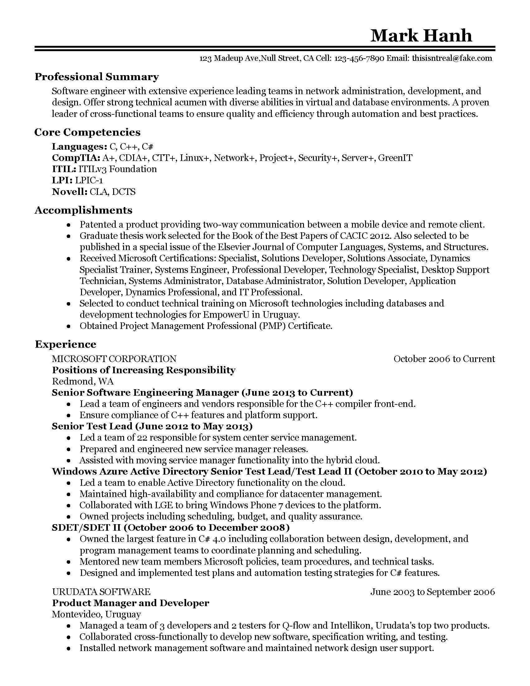 Engineering Manager Resume Examples New Professional software Engineering Manager Templates to
