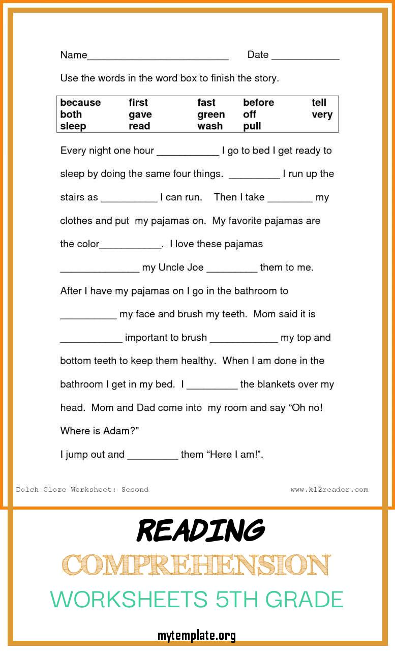 hight resolution of Grade 7 Reading Comprehension Worksheets Template   robertdee.org