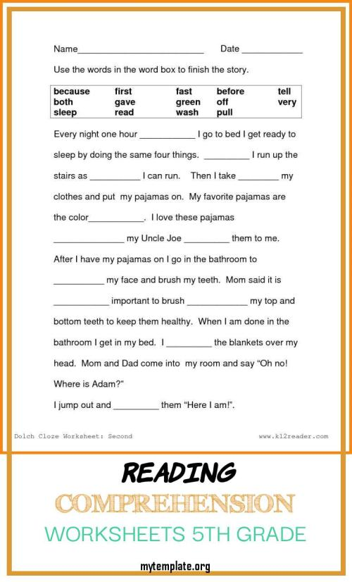 small resolution of Grade 7 Reading Comprehension Worksheets Template   robertdee.org