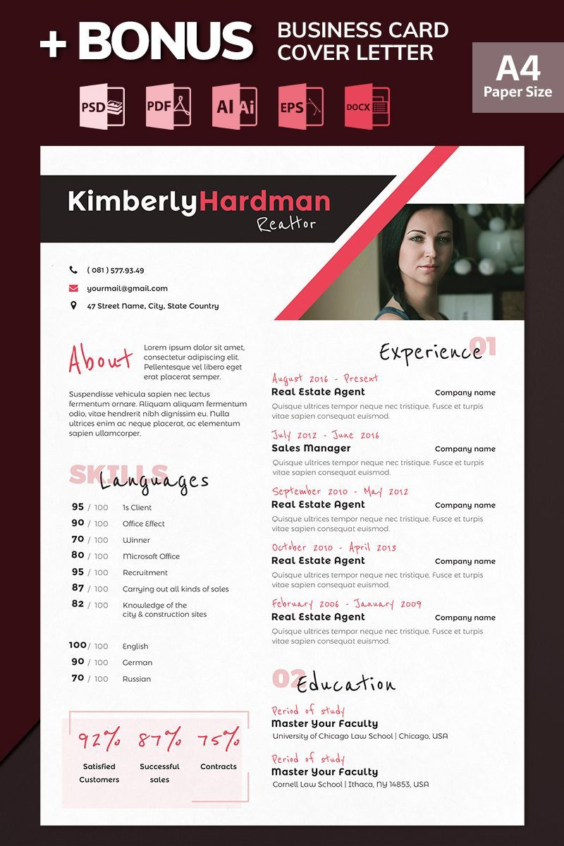 Kimberly Hardman Realtor Resume Template