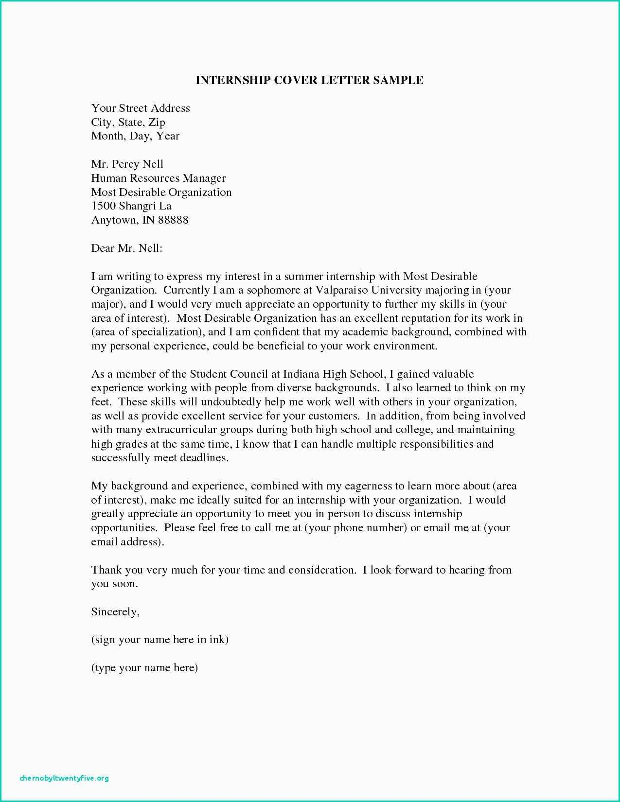 30 Cover Letter Examples For Internship