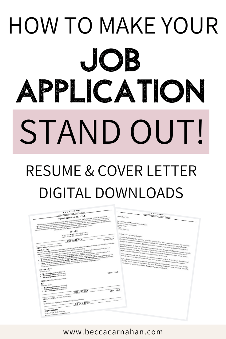 Resumes & Cover Letter Templates from a Career Coach