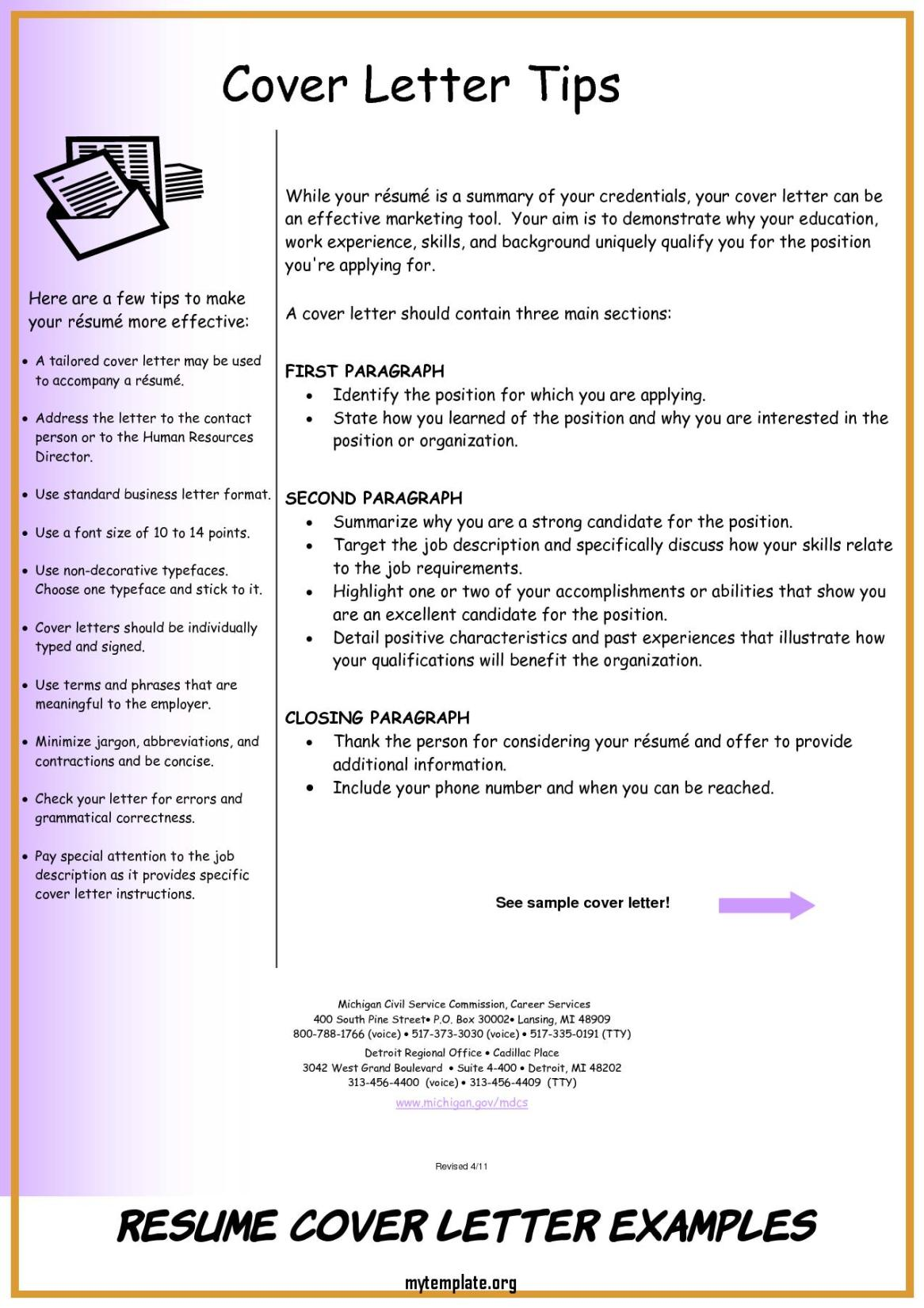 8 Resume Cover Letter Examples Free Templates
