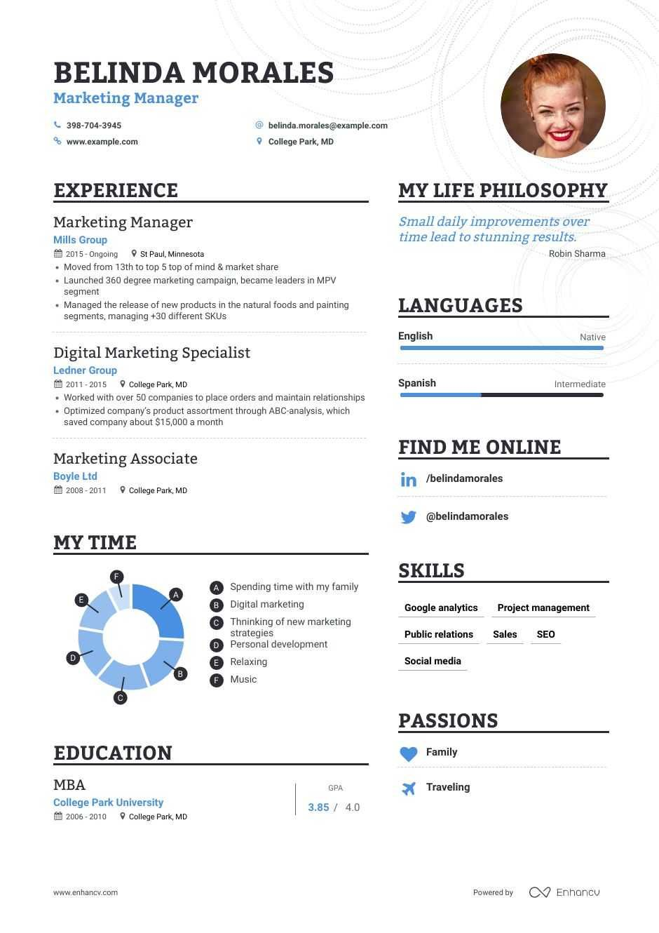 Marketing Manager Resume Samples A Step by Step Guide for 2020