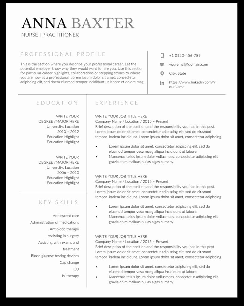 11 Resume For Nurse Practitioner Free Templates