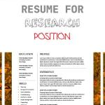 Resume for Research Position Of Modern Resume Template and Cover Letter 1 2 Page Cv Template for Word Diy Cv Instant Download Creative Resume Template Lebenslauf