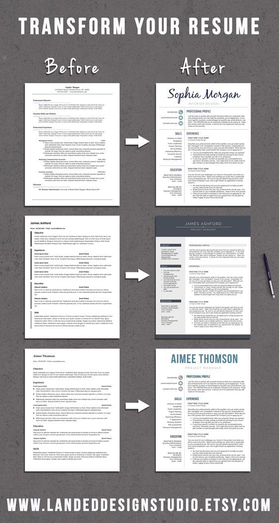 Professional Resume Templates for Word & Mac Pages by GetLanded