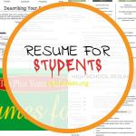 Resume for Students Of High School Resume Writing Packet and Guide
