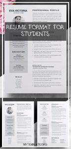 Resume format for Students Of