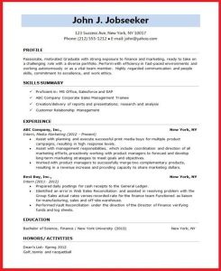 Resume format for Students Of Resume format for Student