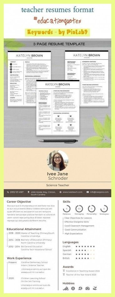 Early Childhood Teacher Resumes Education Quotes