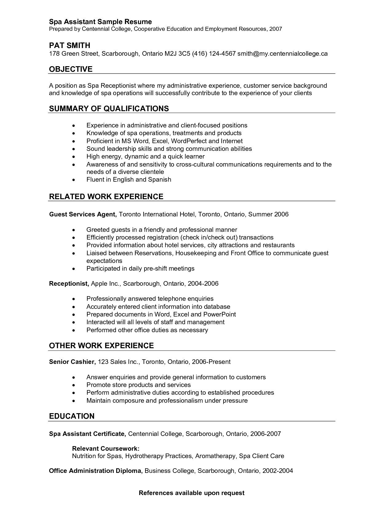 Front Desk Receptionist Resume Sample Objective Sample for Resumes Best Receptionist Job Samples
