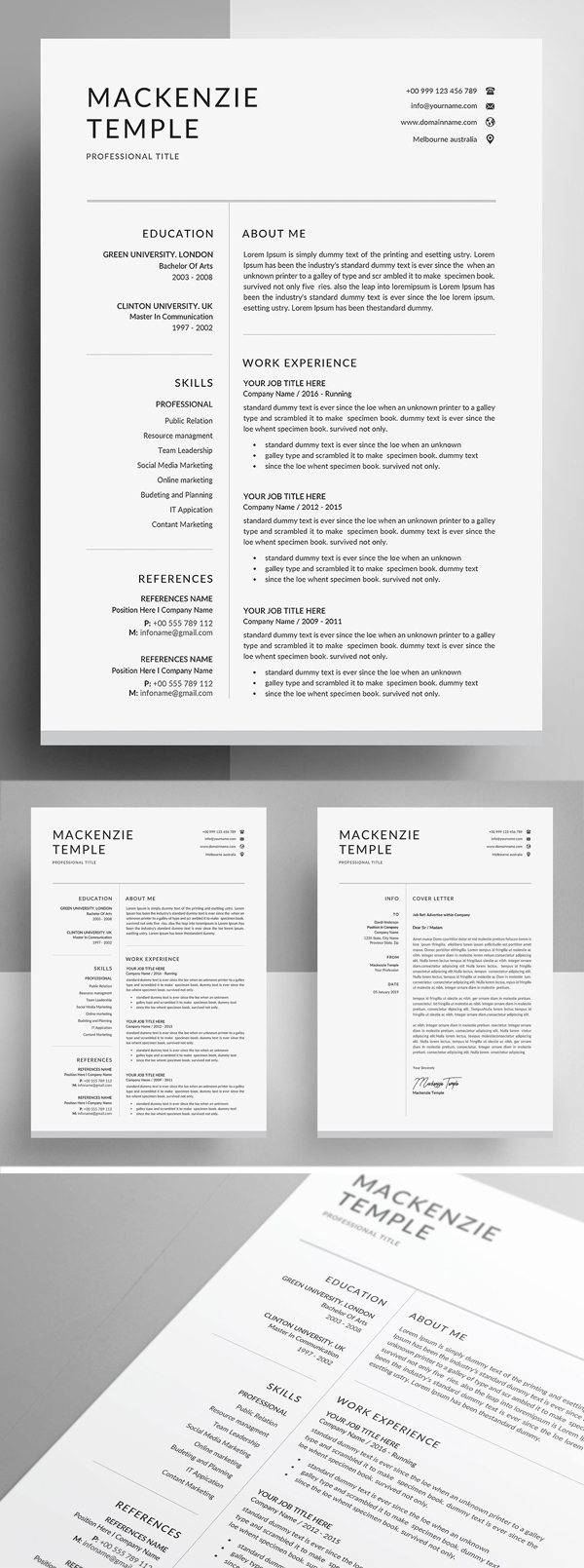 25 Best Resume Templates For 2020 Graphics Design