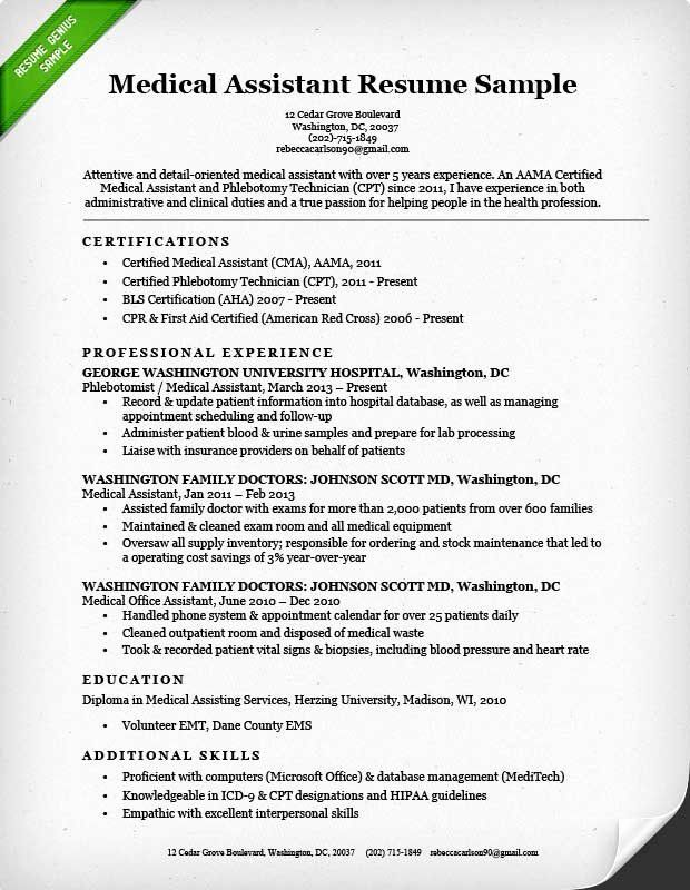 Medical fice assistant Job Description Resume New Medical assistant Resume Sample & Writing Guide