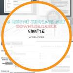 Resume Template Free Downloadable Simple Of Simple Resume Template for Indesign
