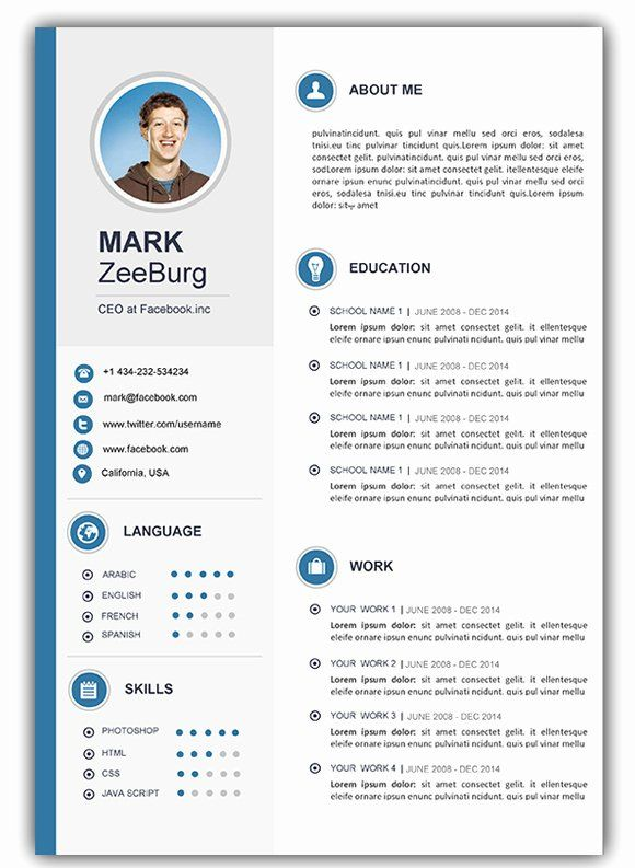 Resume Template Free Downloadable Word Of attractive Resume Templates Free Download Fresh 4 Free ...