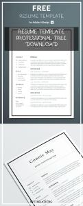 Resume Template Professional Free Download Of Simple Resume Template for Indesign