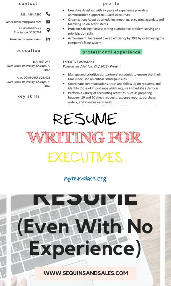10 Resume Writing For Executives Free Templates