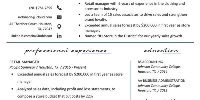 Retail Job Description for Resume Of Retail Manager Resume Example & Writing Tips