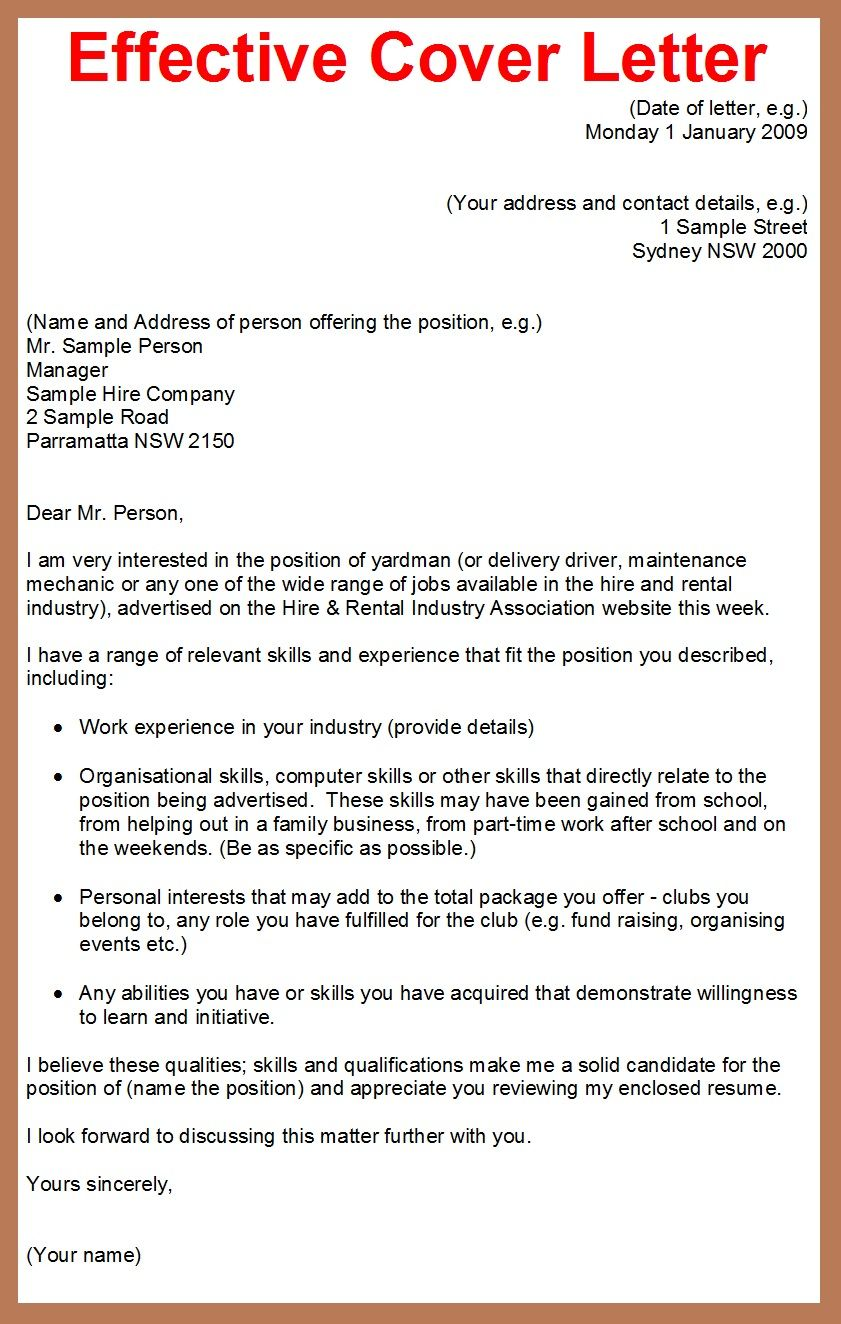 25 Writing A Good Cover Letter