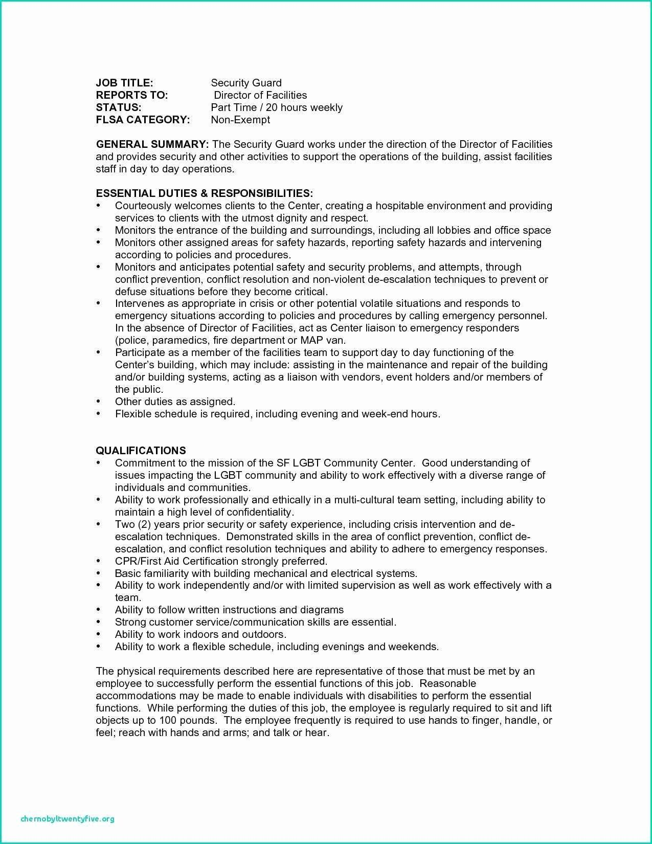 Cover Letter for Security Job Best 10 Sample Resumes Security Guard