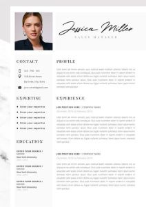 Simple Cover Letter Example Cv Template Of Professional Resume Template Cv Template Editable In Ms Word and Pages Instant Digital Download Size A4 and Us Letter