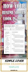 Simple Cover Letter Example Cv Template Of Resume Template Professional Resume Creative Resume Cv Template Modern Resume Resume Word Cv