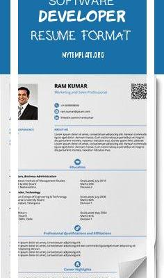 Software Developer Resume format Of Free Smart and Balanced Resume formats In Word