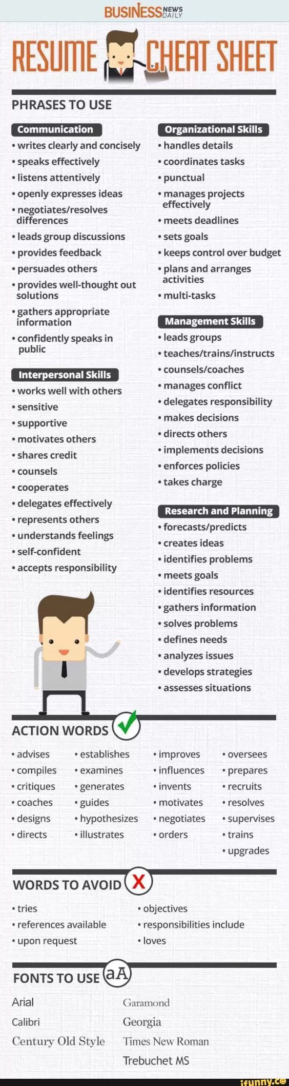 Resume buzzwords by strengths
