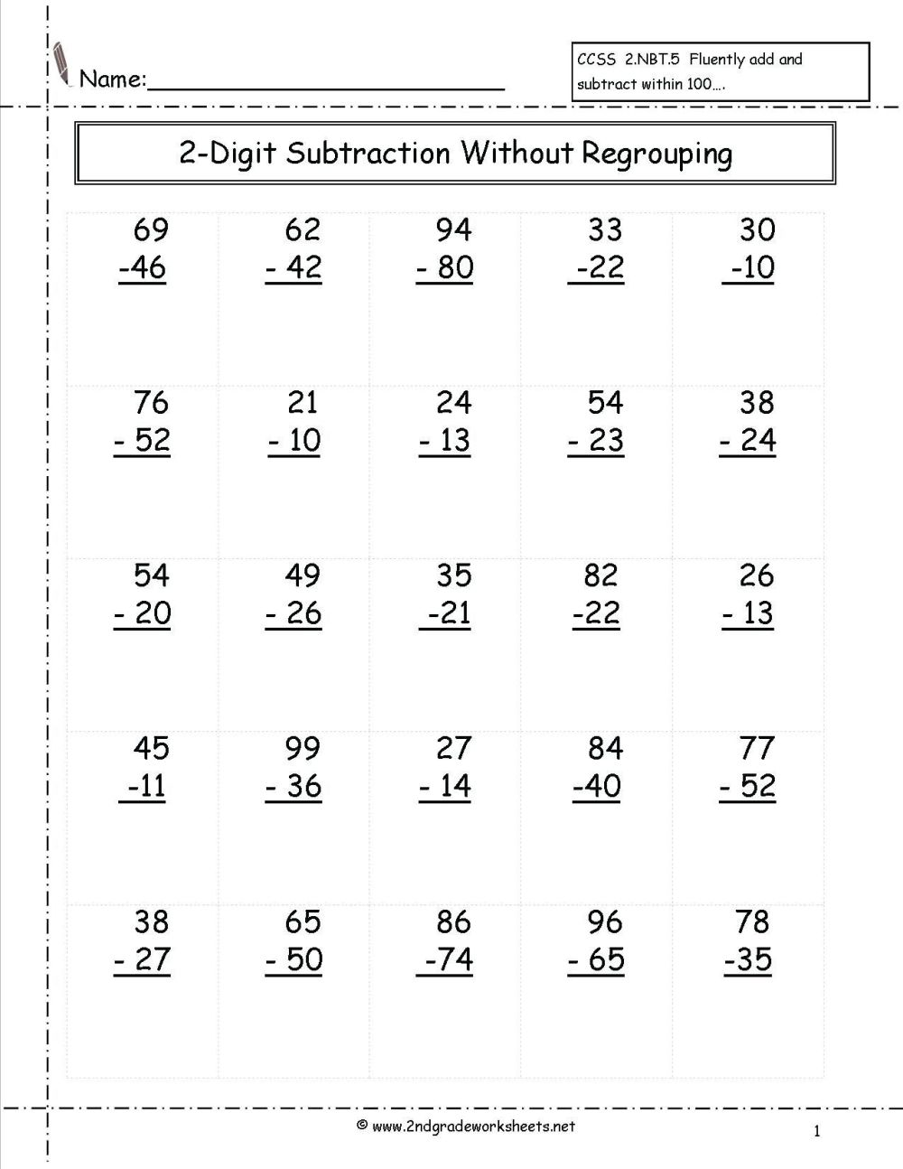 medium resolution of Subtraction Worksheets for Grade 1 Of 5 Free Math Worksheets First Grade 1 Addition  Add In Columns 2 Digit Plus 1 Digit No Regroupi - Free Templates