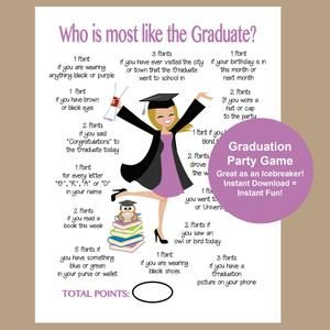 Graduation Party Game Whats in your phone Game Graduation Party Graduation party DIY