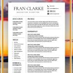 Templates Of Resumes and Cover Letters Of Creative Resume Template for Word 1 2 Page Resume Template and Cover Letter Diy Resume Template