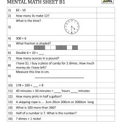 Worksheets Everyday Math Problems Harder Of 42 Grade 1 Math Test Printable  - Free Templates [ 1294 x 1000 Pixel ]
