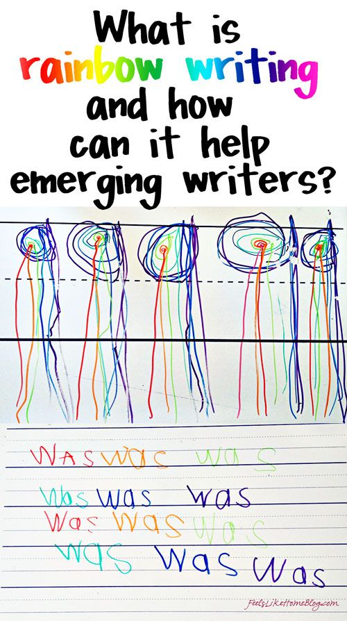 What is Rainbow Writing and How Does It Help Emerging Writers