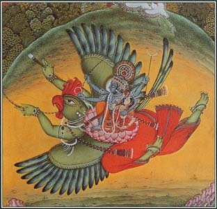 In Hindu mythology, Garuda was a creature with a human body and an eagle