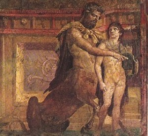 The Centaur Chiron and the Young Achilles, fresco from Herculaneum