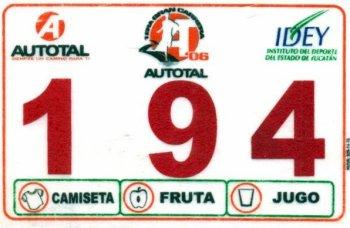 Autotal Race Bib