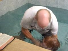 Me baptizing my son