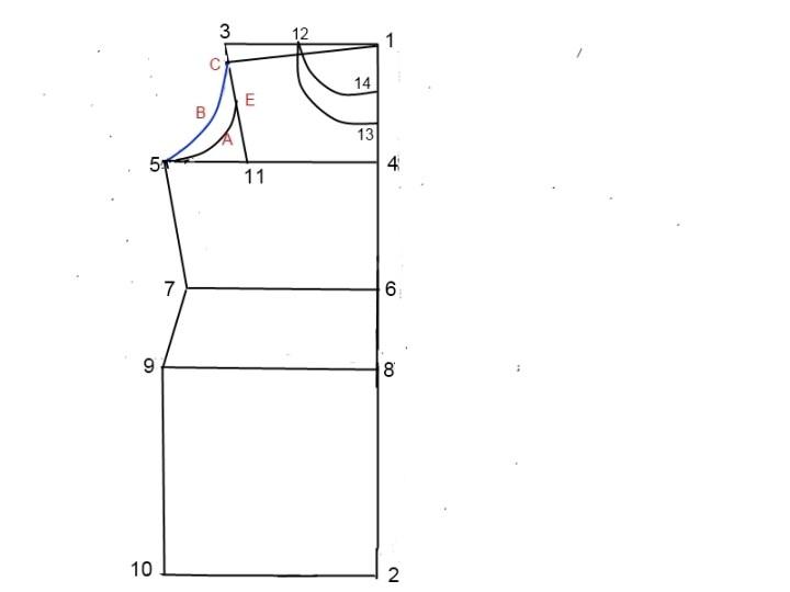 Kurti drafting pattern