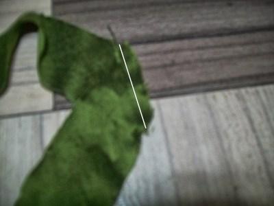stitching bias strip